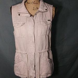 Linen Utility Vest by Max Jeans
